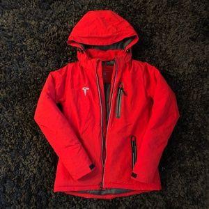 Red Soft Shell Tesla Jacket